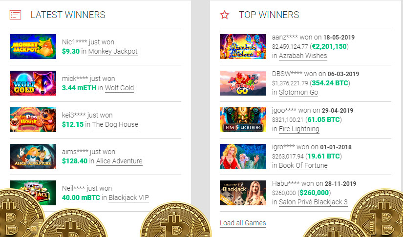 Top bitcoin casino games in vegas